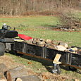 Riding Lawn Mower with Trailer