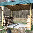 Chicken Coop-Turned-Wood-Shed